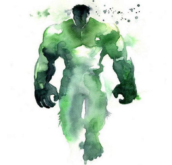 Blule:超级英雄水彩画集-绿巨人