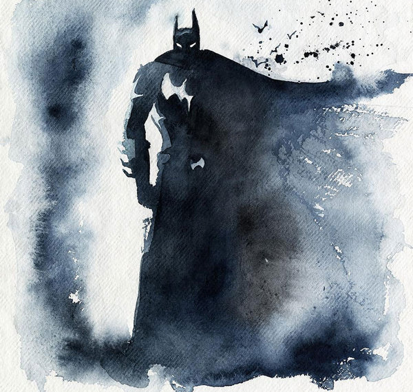 Blule:超级英雄水彩画集-蝙蝠侠