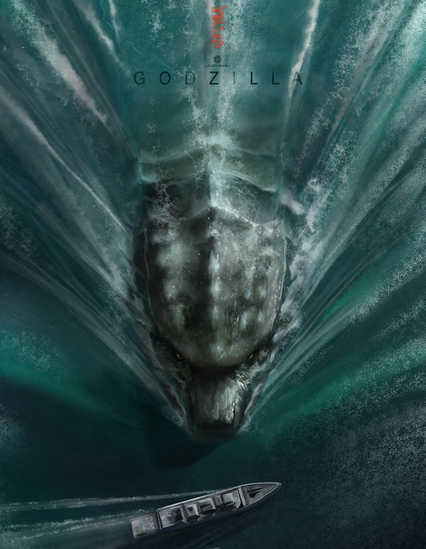 Andy Fairhurst 上帝模式电影海报欣赏,《哥斯拉》(Godzilla)