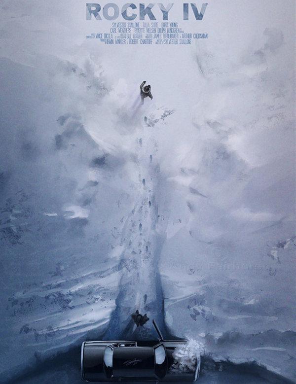 Andy Fairhurst 上帝模式电影海报欣赏,《洛奇4》