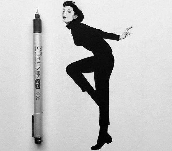 Johanna 单色铅笔素描作品集2