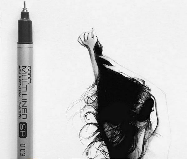Johanna 单色铅笔素描作品集4