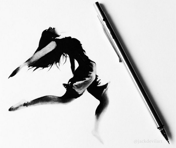 Johanna 单色铅笔素描作品集6