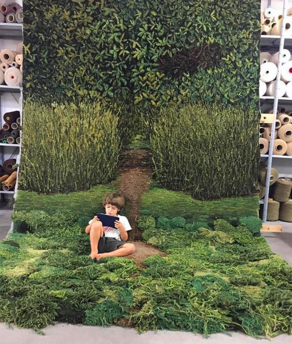 变废为宝:地毯废料变创意羊毛毯8
