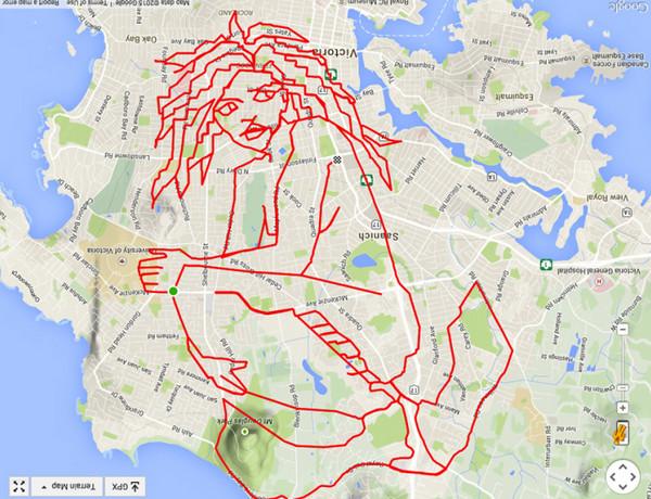 Stephen Lund:环城自行车GPS地图涂鸦8