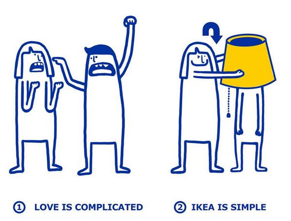 IKEA:宜家家居爱情指南插画