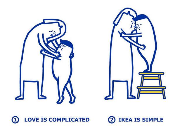 IKEA:宜家家居爱情指南插画2