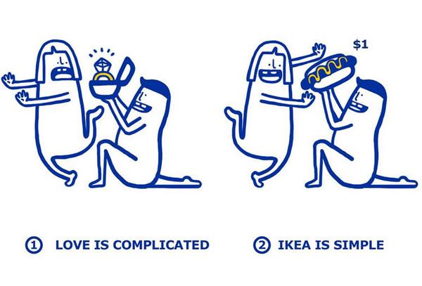 IKEA:宜家家居爱情指南插画3