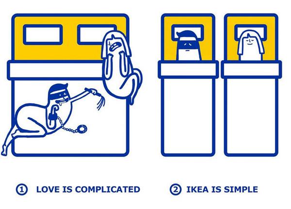 IKEA:宜家家居爱情指南插画4