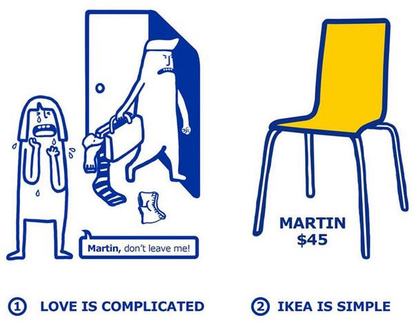 IKEA:宜家家居爱情指南插画5