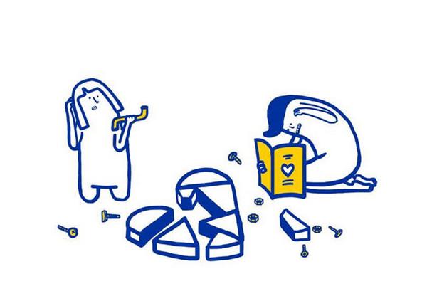 IKEA:宜家家居爱情指南插画6