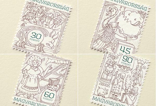 Boglarka Nadi 童话世界邮票设计4