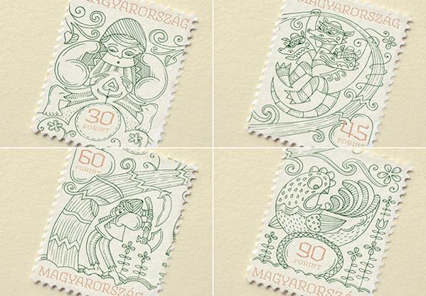 Boglarka Nadi 童话世界邮票设计5