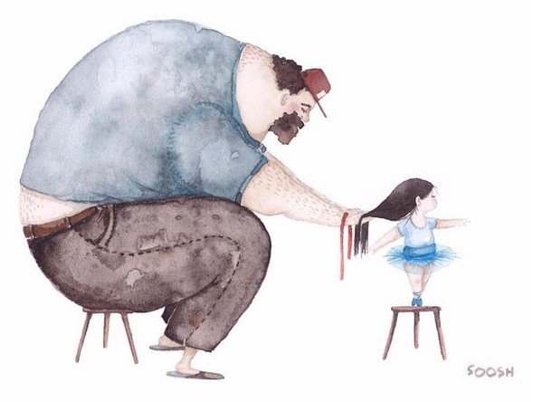 Snezhana Soosh 温馨的父爱插画集2