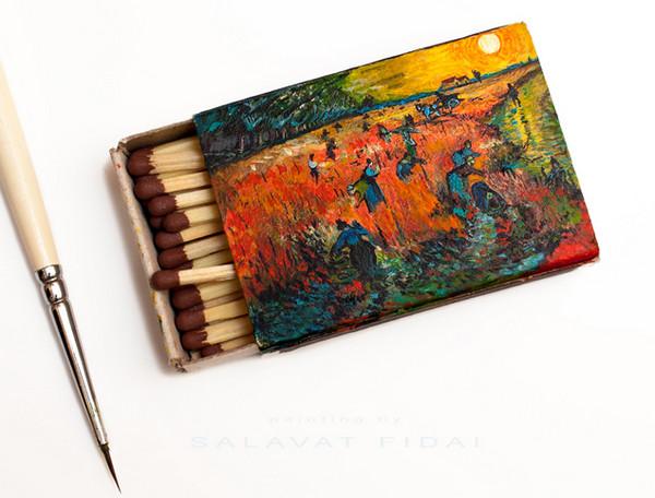 Salavat Fidai 火柴盒上手绘名家肖像6