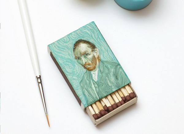 Salavat Fidai 火柴盒上手绘名家肖像7
