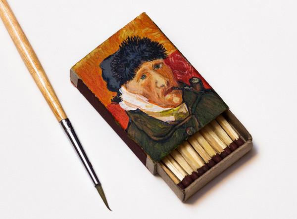Salavat Fidai 火柴盒上手绘名家肖像8