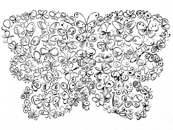 12张适合儿童涂色的蝴蝶绘本