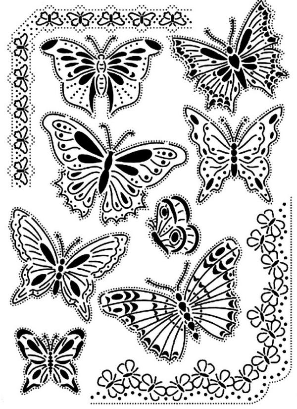 张适合儿童涂色的蝴蝶绘本4
