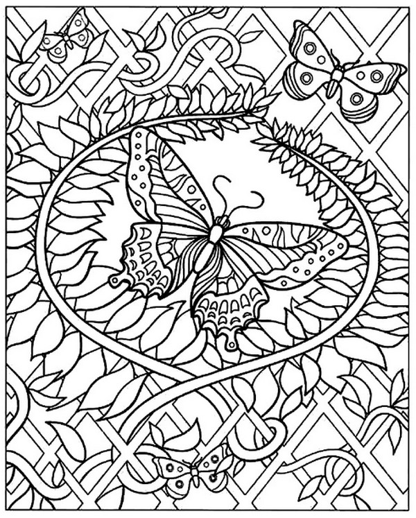 张适合儿童涂色的蝴蝶绘本10