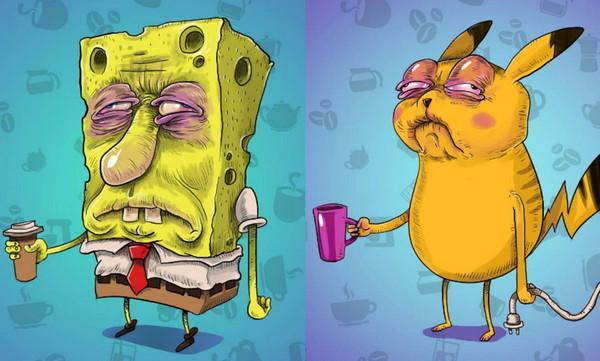 早晨泡咖啡喝的著名卡通人物
