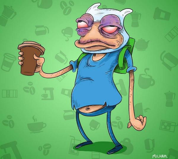 早晨泡咖啡喝的著名卡通人物6