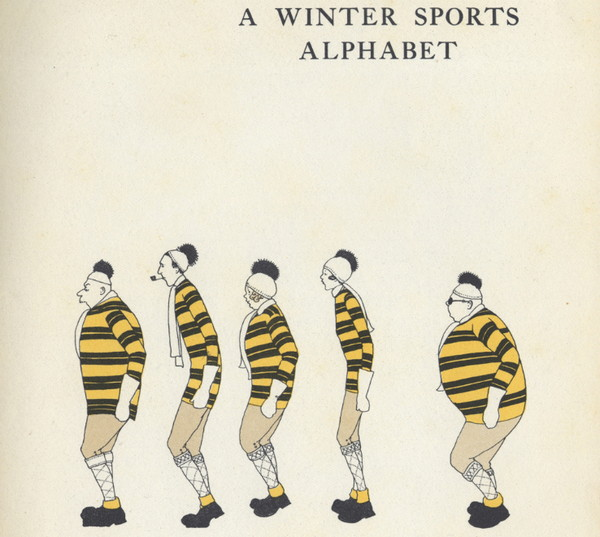 Joyce Dennys:冬季运动字母插画集