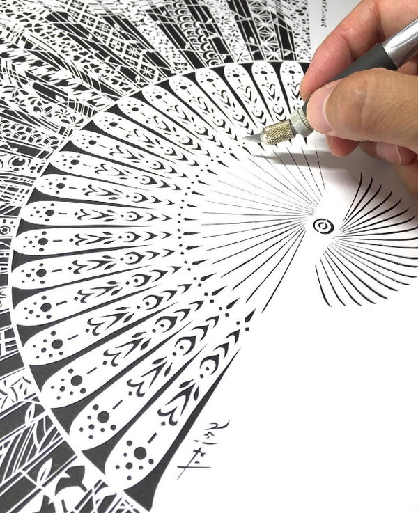 Mr Riu:发丝系纸雕艺术作品集4