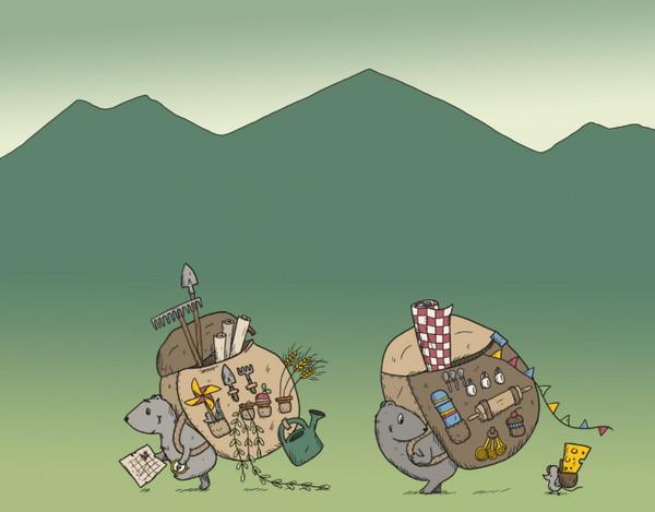 《Leave a Stroy》用插画讲述一个故事,背包旅行