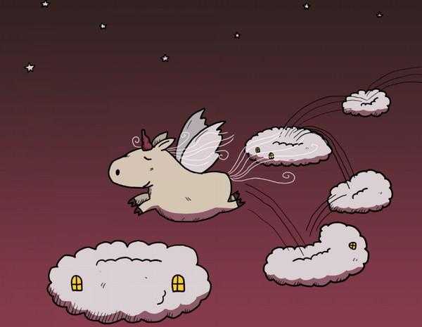 《Leave a Stroy》用插画讲述一个故事,独角兽
