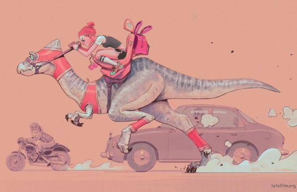 Woonyoung Jung 侏罗纪恐龙运动会奇幻插画集2