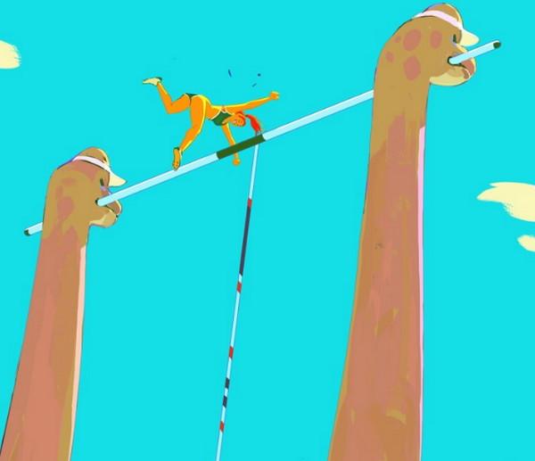Woonyoung Jung 侏罗纪恐龙运动会奇幻插画集8