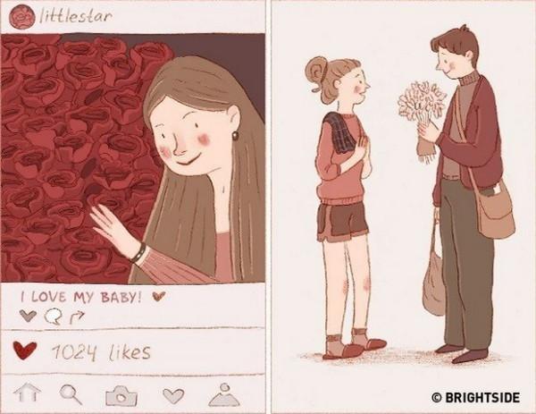 真正的爱即使只是包装简朴的花束也会让你发自内心的感到幸福。