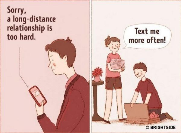 真正的爱即使产生距离也会努力想办法克服
