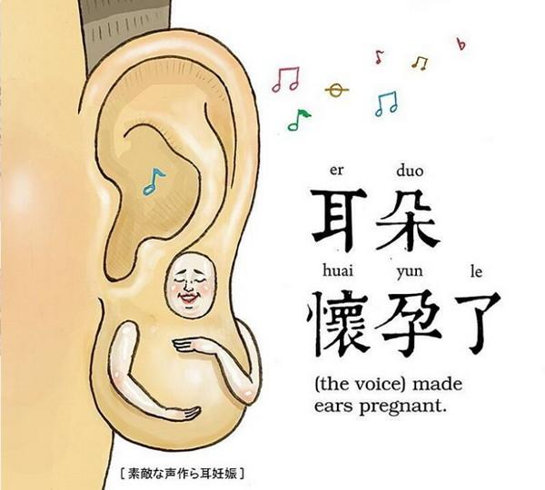 耳朵怀孕了
