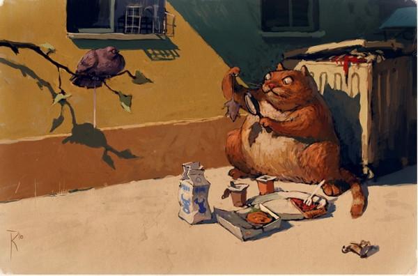 猫的进食检测