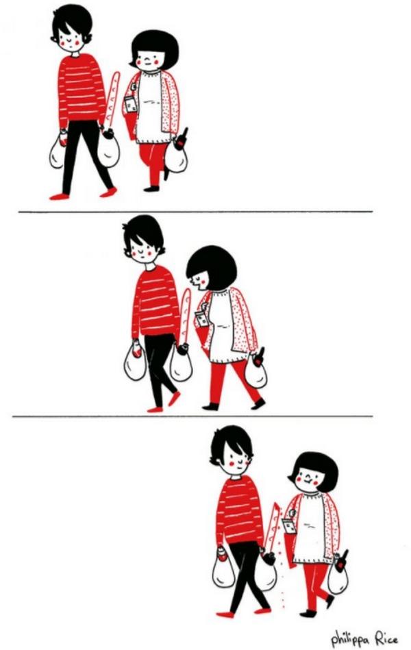 去超市採买本来是一件无聊的事,跟你一起也找得到乐趣。