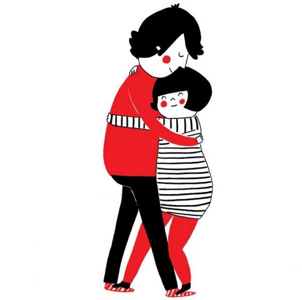 真正的爱,是——所有事情都要搁下,让我们抱在一起。
