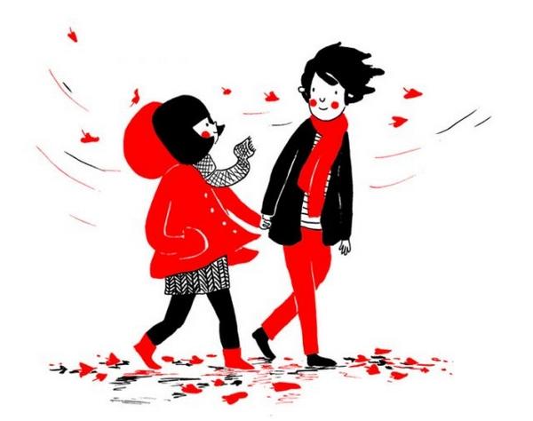 我感受不到寒冬前的凉秋,因为你的心总是让我温暖。