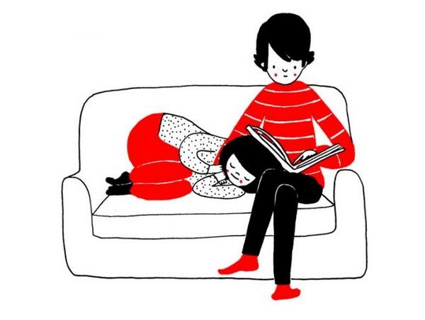 最舒服的床铺,是靠在你的腿上。